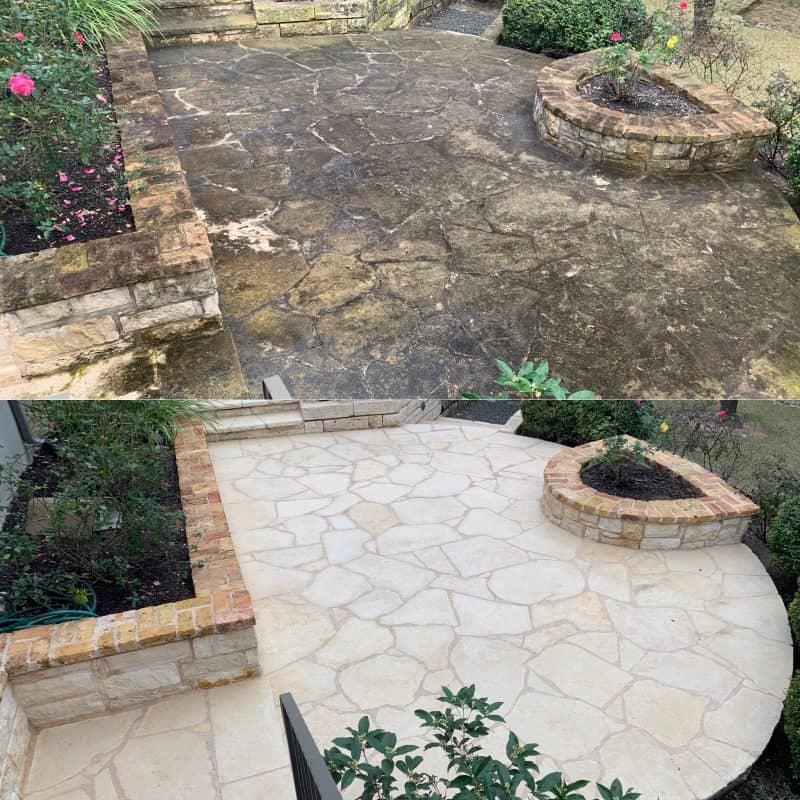 best limestone deck pressure washing