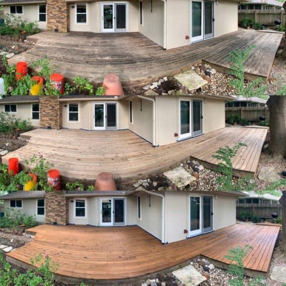 professional cedar deck restoration
