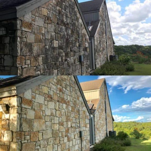 professional texas gold limestone house wash