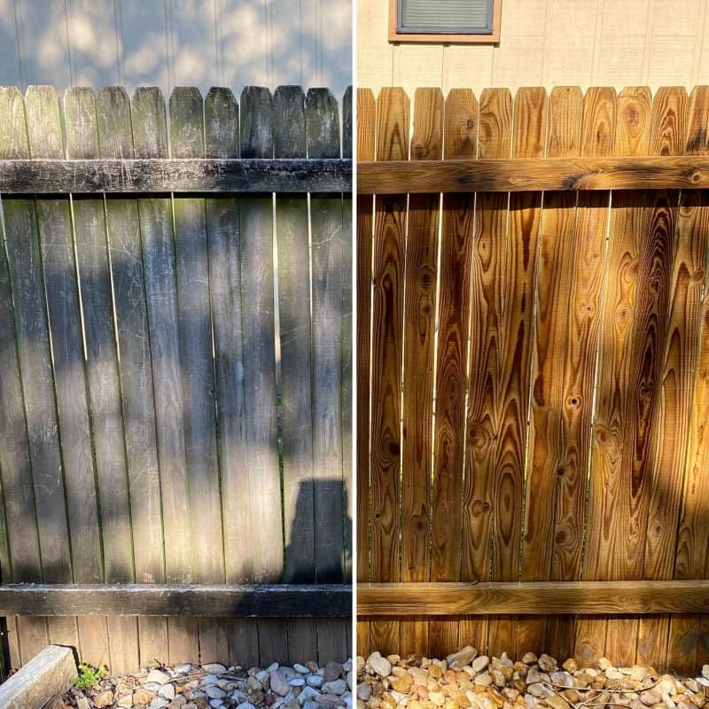 austin fence cedar fence cleaning