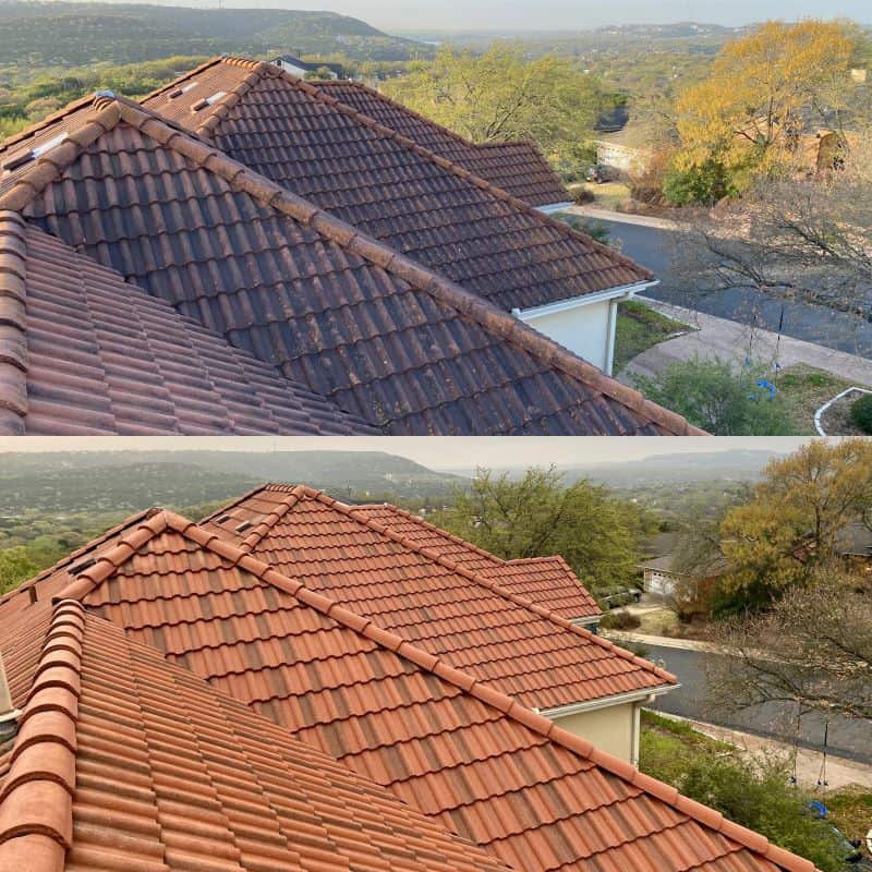 austin texas spanish tile roof cleaning