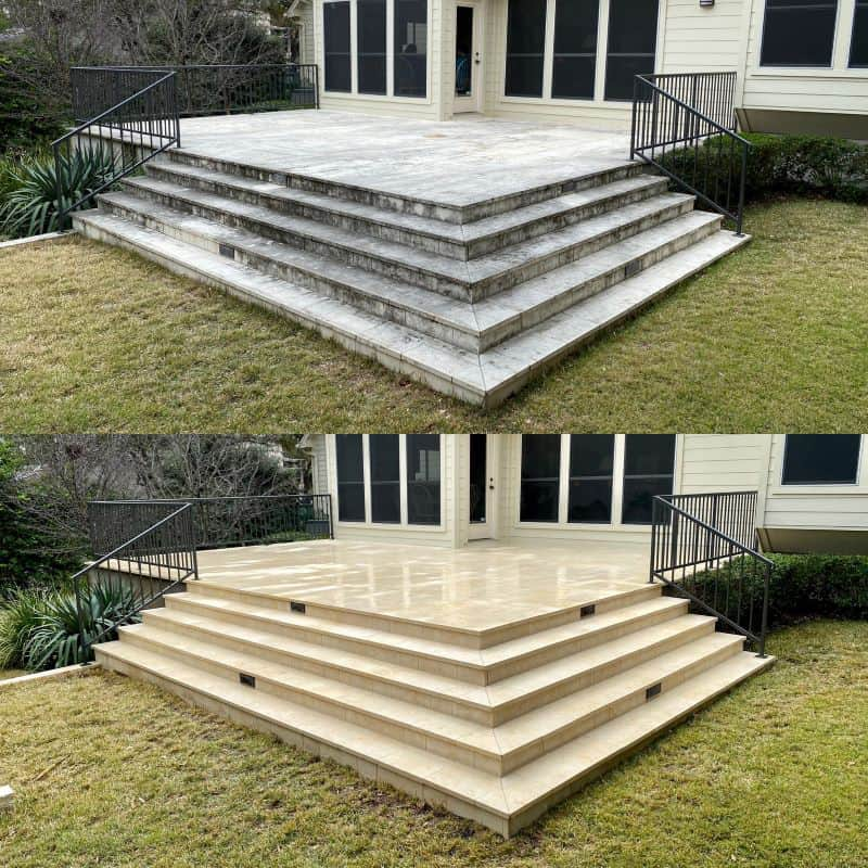 professional limestone patio cleaning